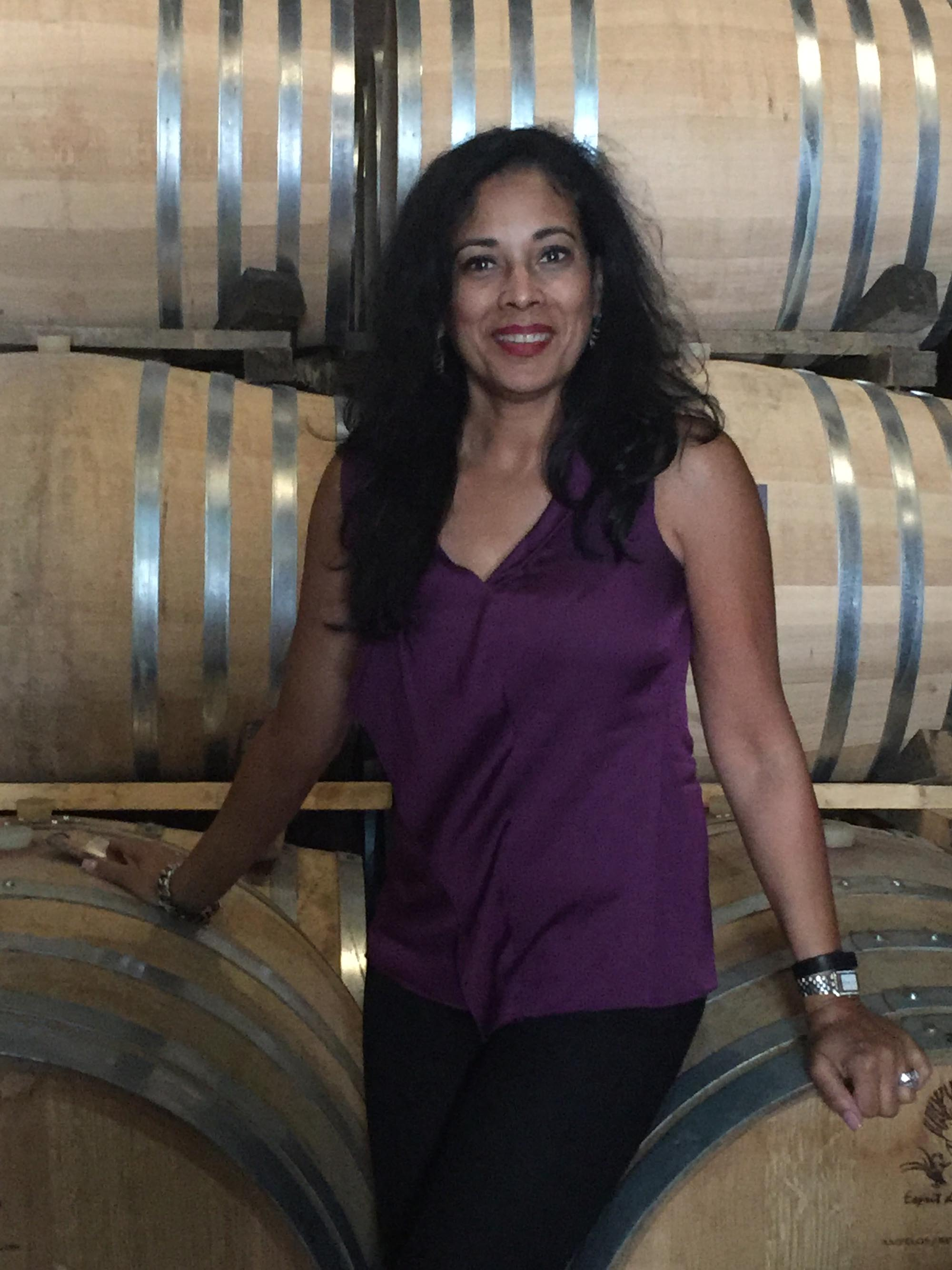 Woman with Wine Barrels