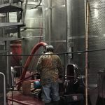 Vat of Wine with Worker